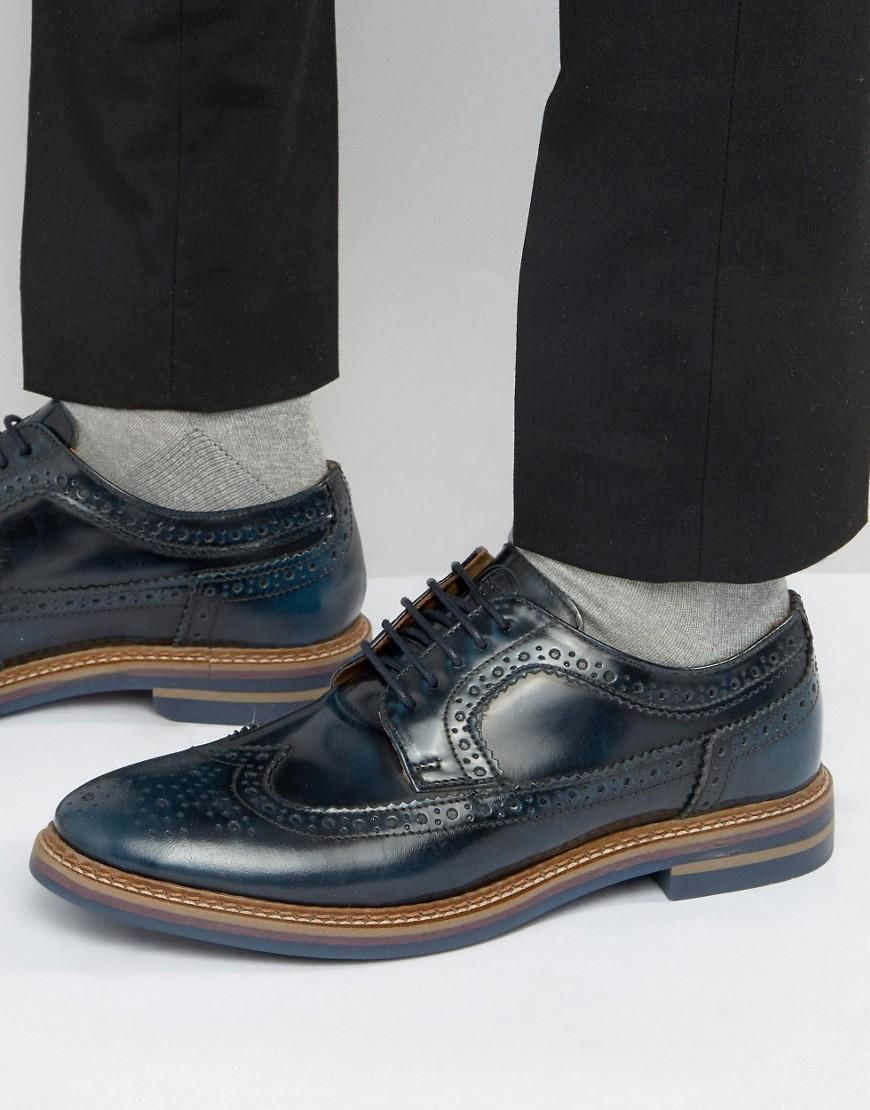Base London Turner Leather Brogue Shoes in okphm