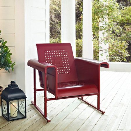 Veranda Metal Retro Single Chair Glider