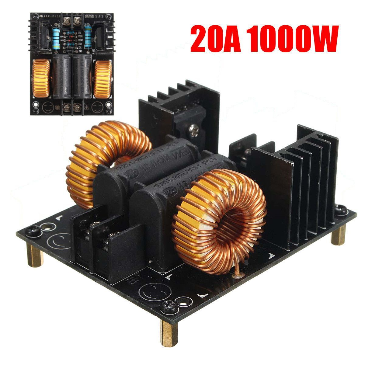 20a 1000w Zvs Low Voltage Induction Heating Board Module
