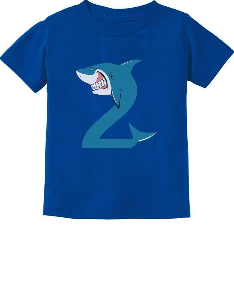 fc4728586 $11.04 - 2Nd Birthday Shark Party Gift For 2 Year Old Toddler Kids T-Shirt  Shark Loving #ebay #Fashion