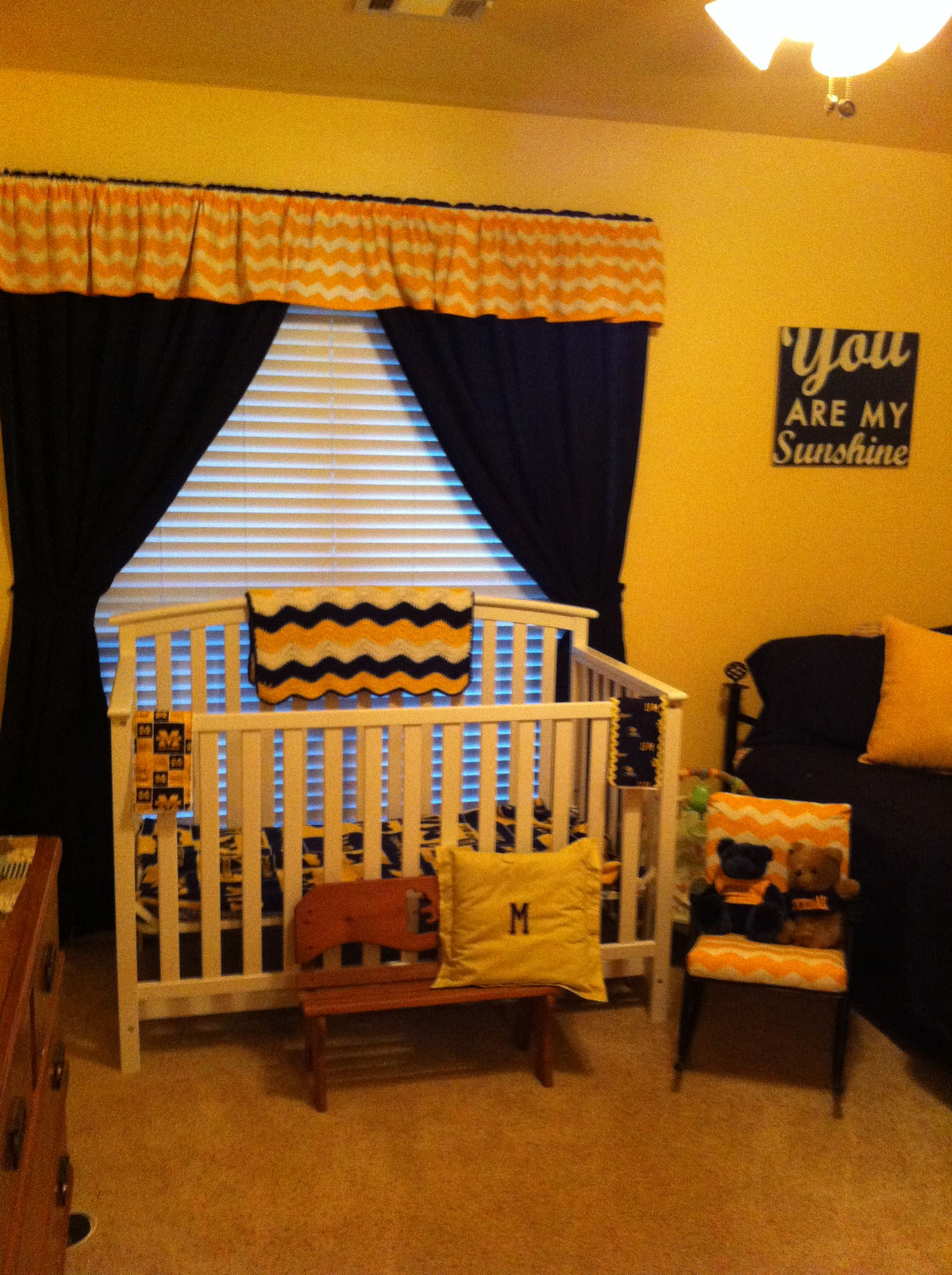 My University Of Michigan Grand Baby Room Is Really Coming Together