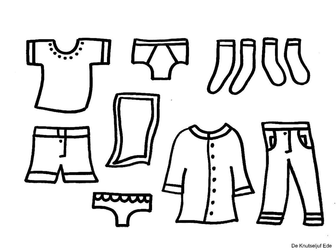 kleurplaat waslijn met kleding zoeken kleding