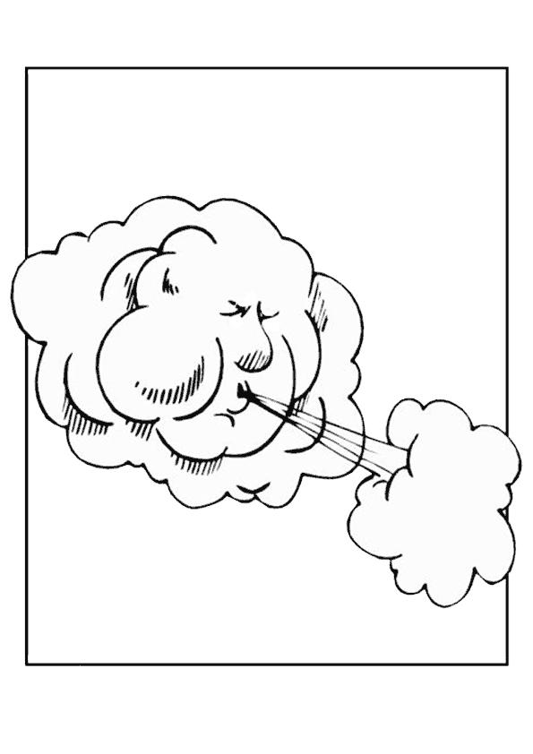Bulut Boyama Sayfasi Bulutlar Boyama Sayfalari Ve Okul