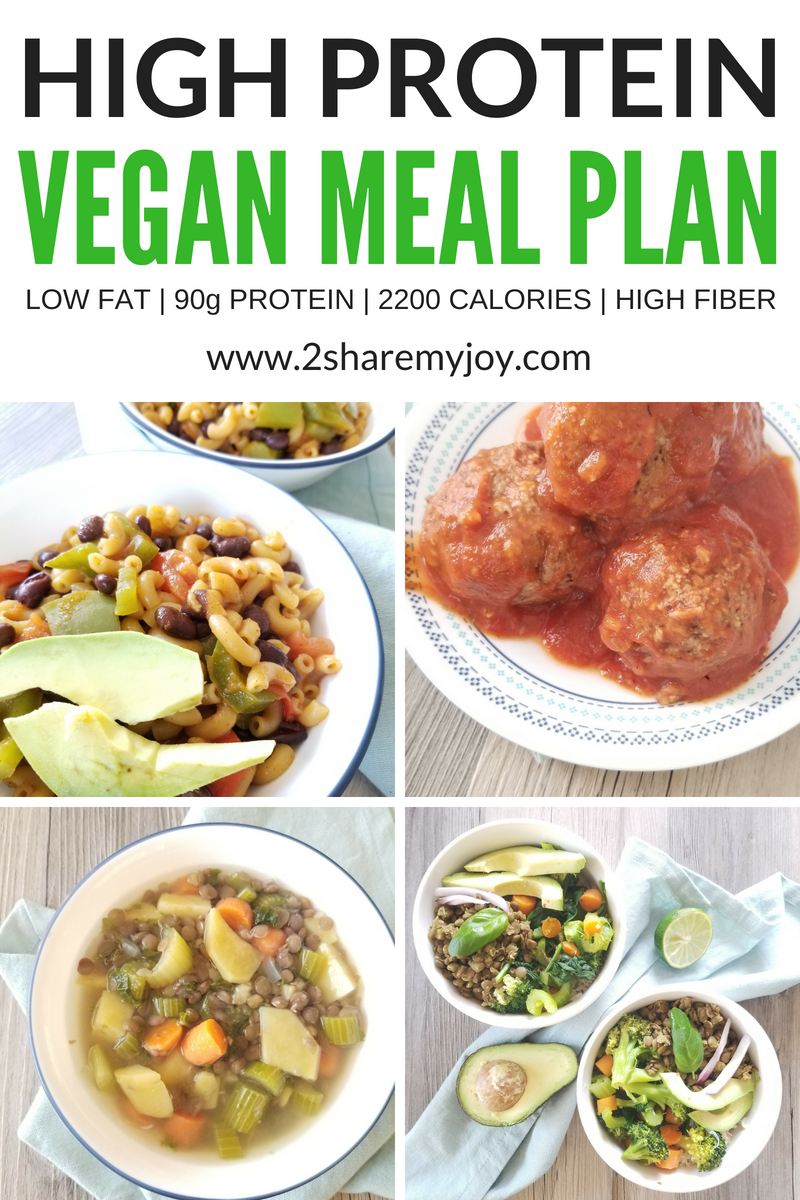 High Protein Vegan Meal Plan 2 200 Calories Vegan Meal Plans High Protein Vegan Recipes Vegan Protein Recipes