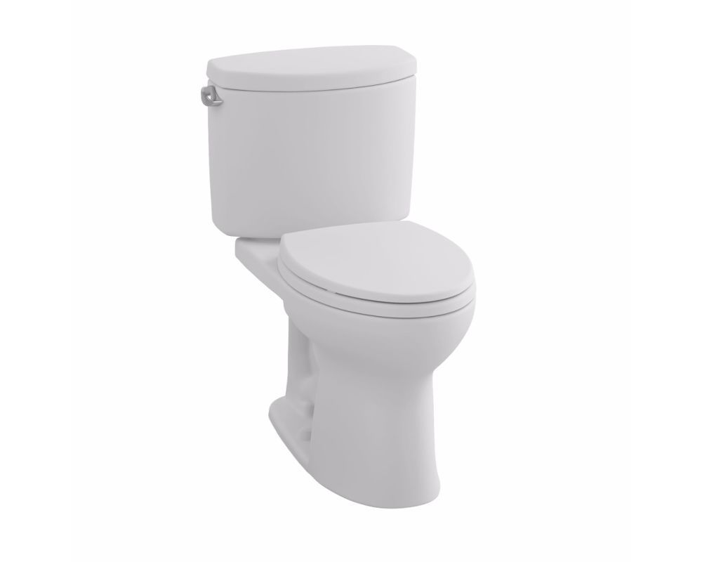 Toto CST453CEFG Drake II 1.28 GPF Two Piece Round Toilet with ...