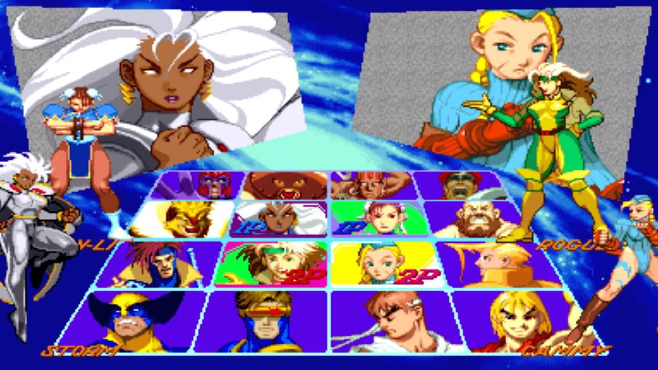 X Men Vs Street Fighter Player Select Sega Genesis Remix Street Fighter Characters Street Fighter Man Vs
