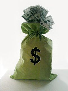 Huge Money Bags Party Decorations For My Student Loan Payoff I Made This From A Lime Green Pillow Case And Am Making More In Other Bright Colors