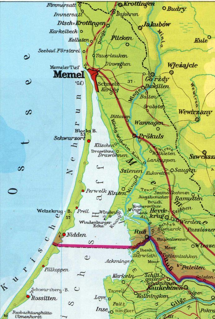 kurische nehrung karte 001 Kurische Nehrung | Maps | Historical maps, Prussia, Map