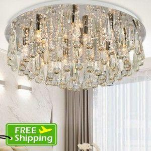 Crystal Lamps Modern Minimalism Stylish Bedroom Lamps Ceiling Living Room Lighting Dining Room Lights5001