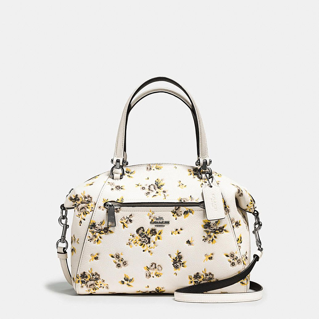88e59a1a75a6 Shop The COACH Prairie Satchel In Polished Pebble Leather With Floral Print.  Enjoy Complimentary Shipping   Returns! Find Designer Bags