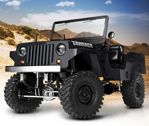 SAWBACK 1/10TH SCALE CRAWLER ARTR (BLACK)
