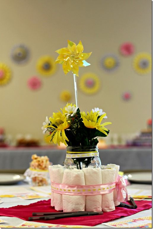 My Little Sunshine Baby Shower Centerpiece Cute And Easy Baby