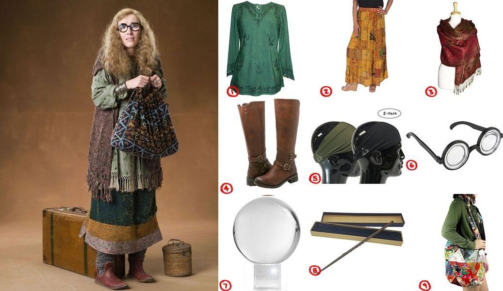 Professor Sybill Trelawney Harry Potter Costume For Cosplay Halloween Harry Potter Kids Costume Harry Potter Costume Harry Potter Dress