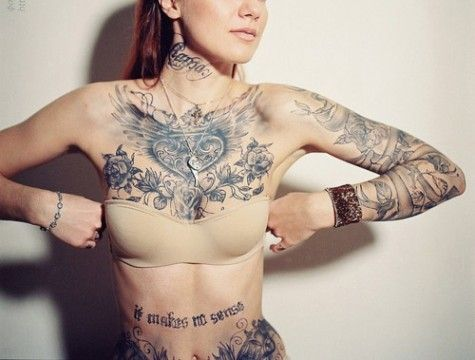 Small inked tits repin by pinterest for ipad my style for Nude tattooed chicks