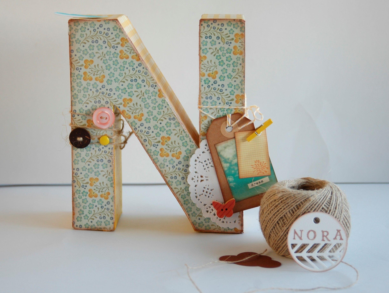 letras homedecor hechas a mano para decorar la habitación de bebés, decoración habitación infantil. scrap