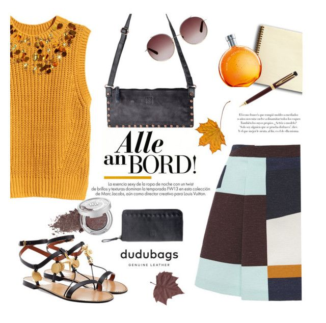 """Dudubags.com"" by mada-malureanu ❤ liked on Polyvore featuring MSGM, H&M, Valentino, Louis Vuitton, Hermès, Waterman, Urban Decay, Chloé, HM and valentino"