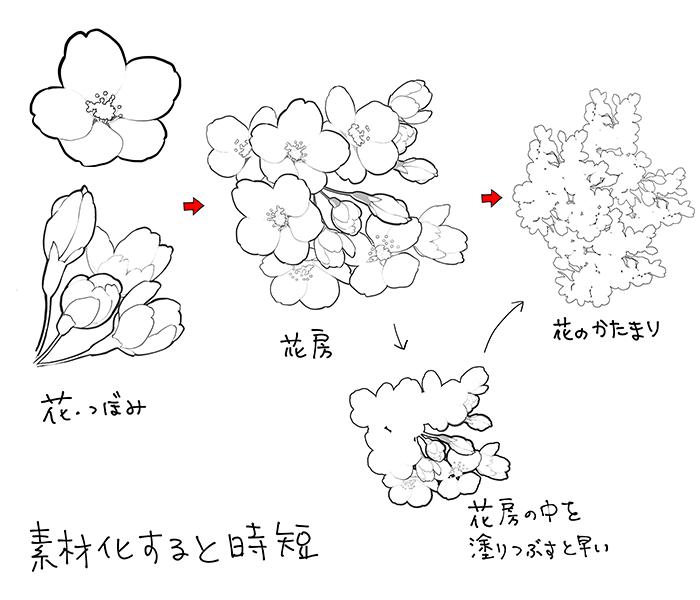 和の花植物の描き方4選椿乙女椿紫陽花桜 In 2019 Chart
