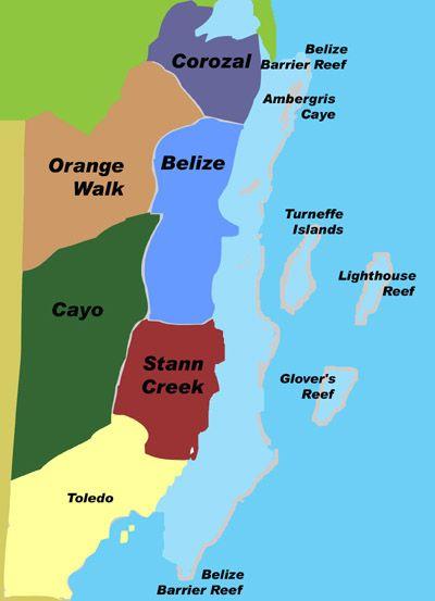 MAP OF BELIZE Belize Hub Pinterest Belize Belize City And - Map of belize