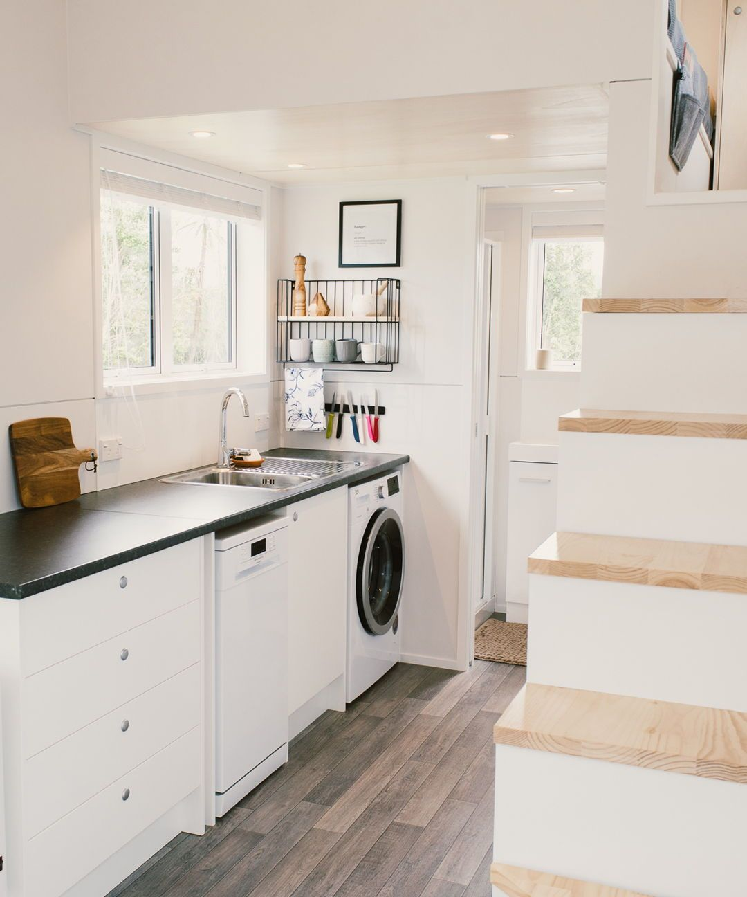 Washing Machine In Kitchen Design: Archer Tiny House By Build Tiny