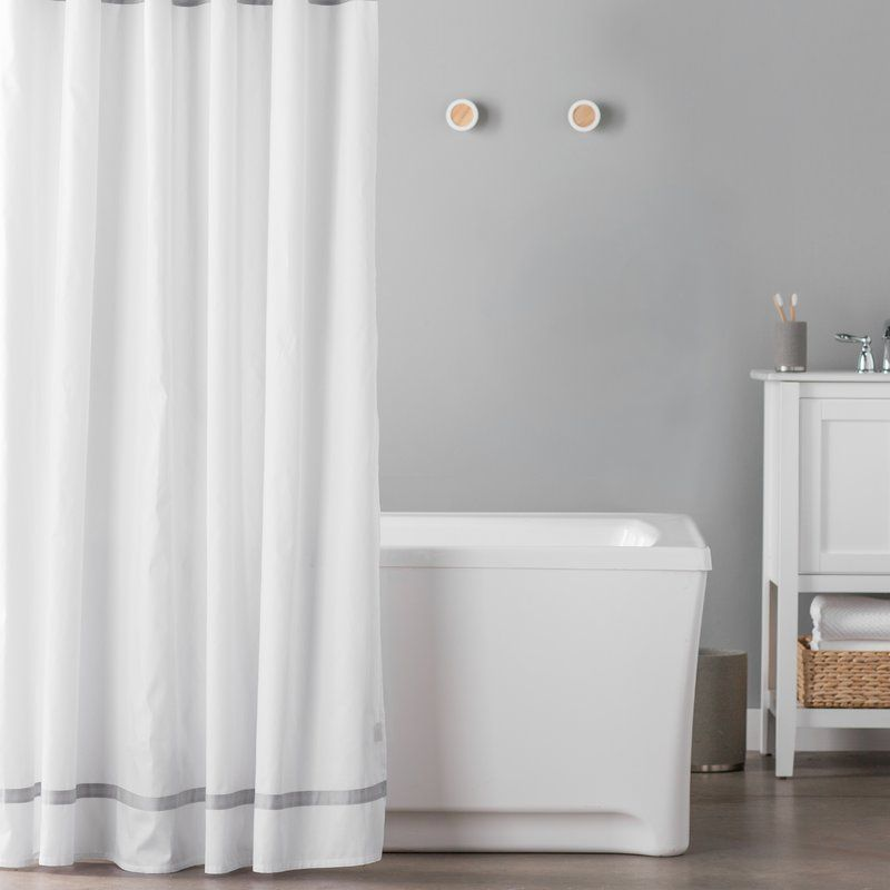 Hotel Cotton Single Shower Curtain In 2019 Hookless Shower
