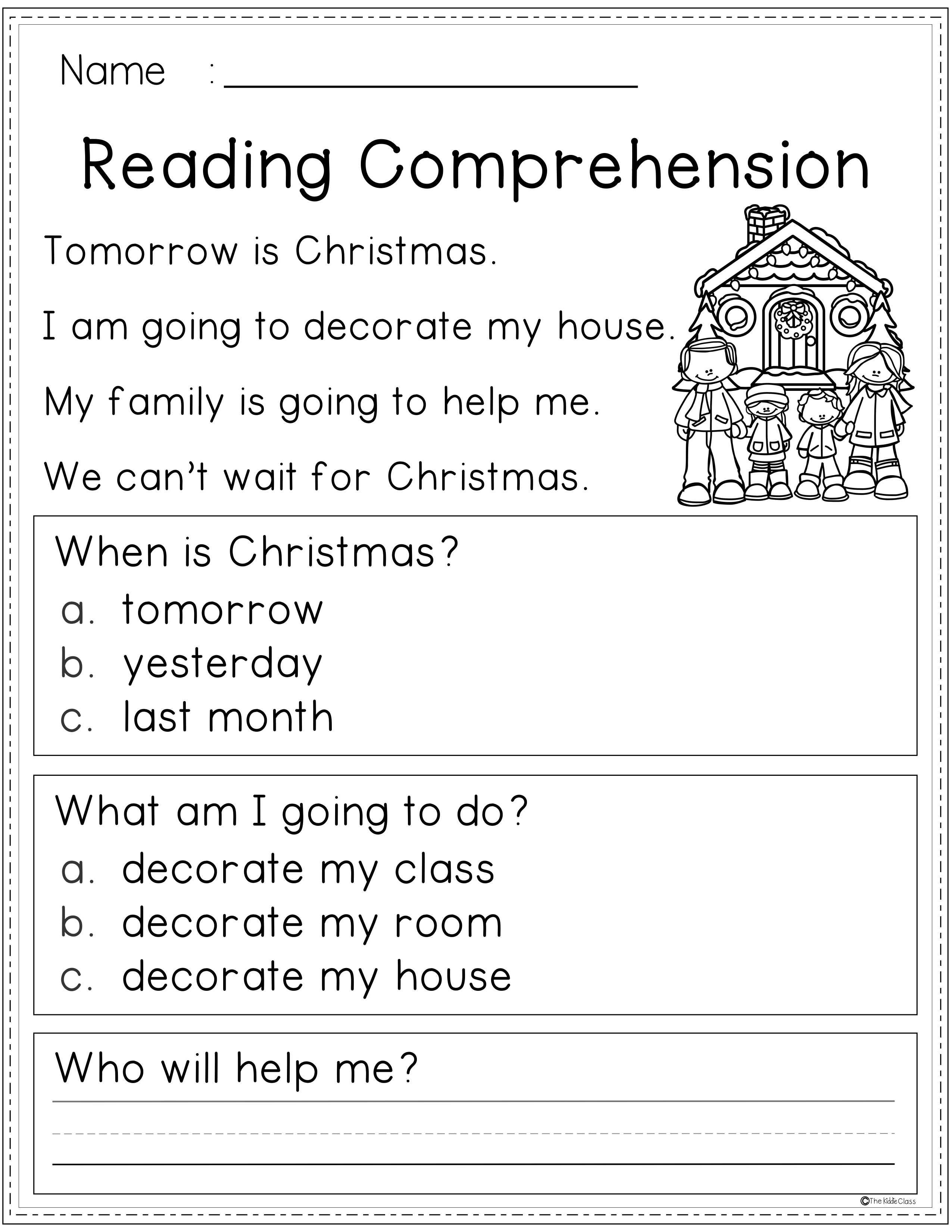 Reading Comprehension Winter Edition Reading Comprehension Comprehension 2nd Grade Reading Worksheets [ 3300 x 2551 Pixel ]