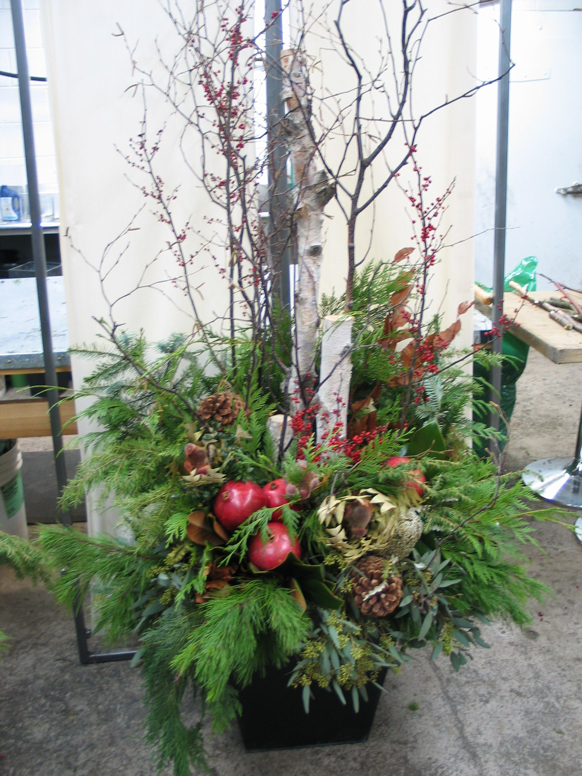 Christmas decorations outdoor wood - Forget Me Not Flowers Oakville Frank Rea Christmas Inspiration Retail