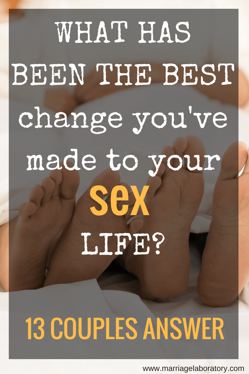 Improving sex life with husband