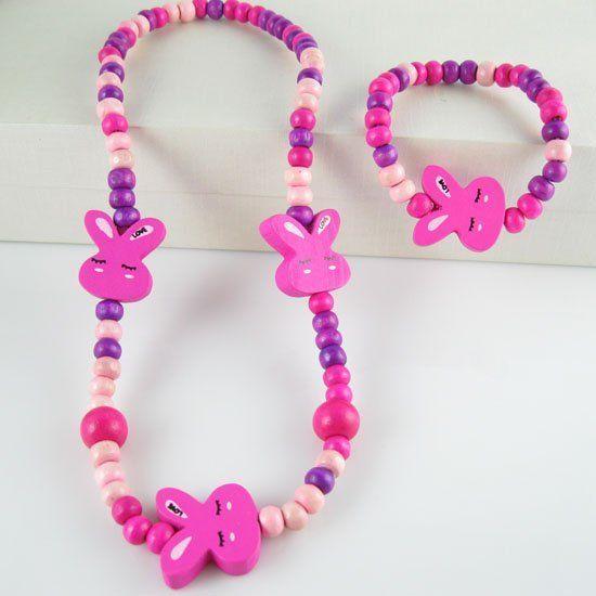 Handmade set di gioielli per bambini! bambino/capretto/bambino prodotti per bambini svegli del coniglio regalo N CS15