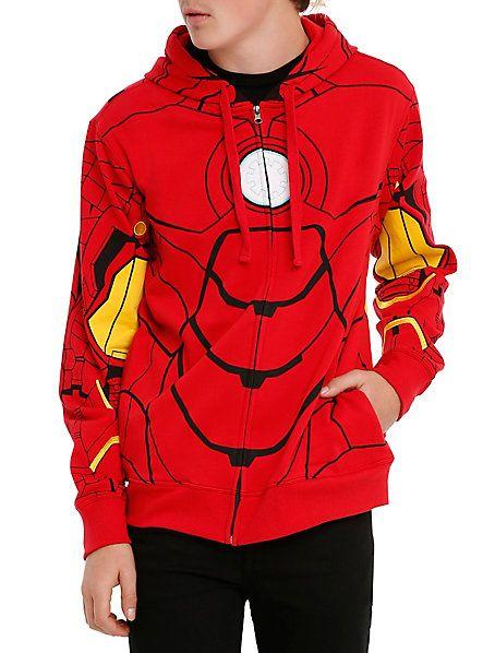 Marvel Iron Man My Iron Suit Costume Zip Hoodie | Hot Topic