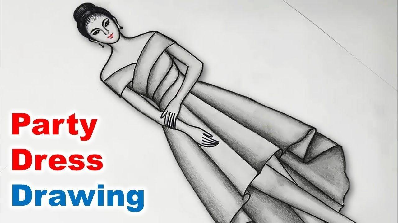 Party Dress Drawing Dress Drawing Dress Drawing Easy Fashion Design Drawings