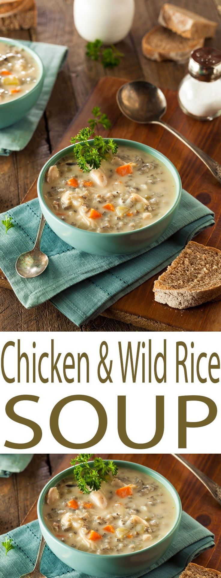 Enjoy this hearty Chicken and Wild Rice Soup that is the ...