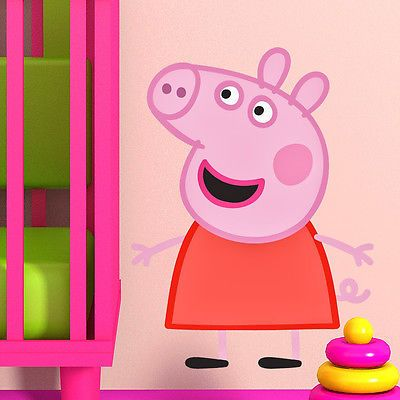 Peppa Pig Kids Boy Girls Bedroom Vinyl Decal Wall Window Sticker Car