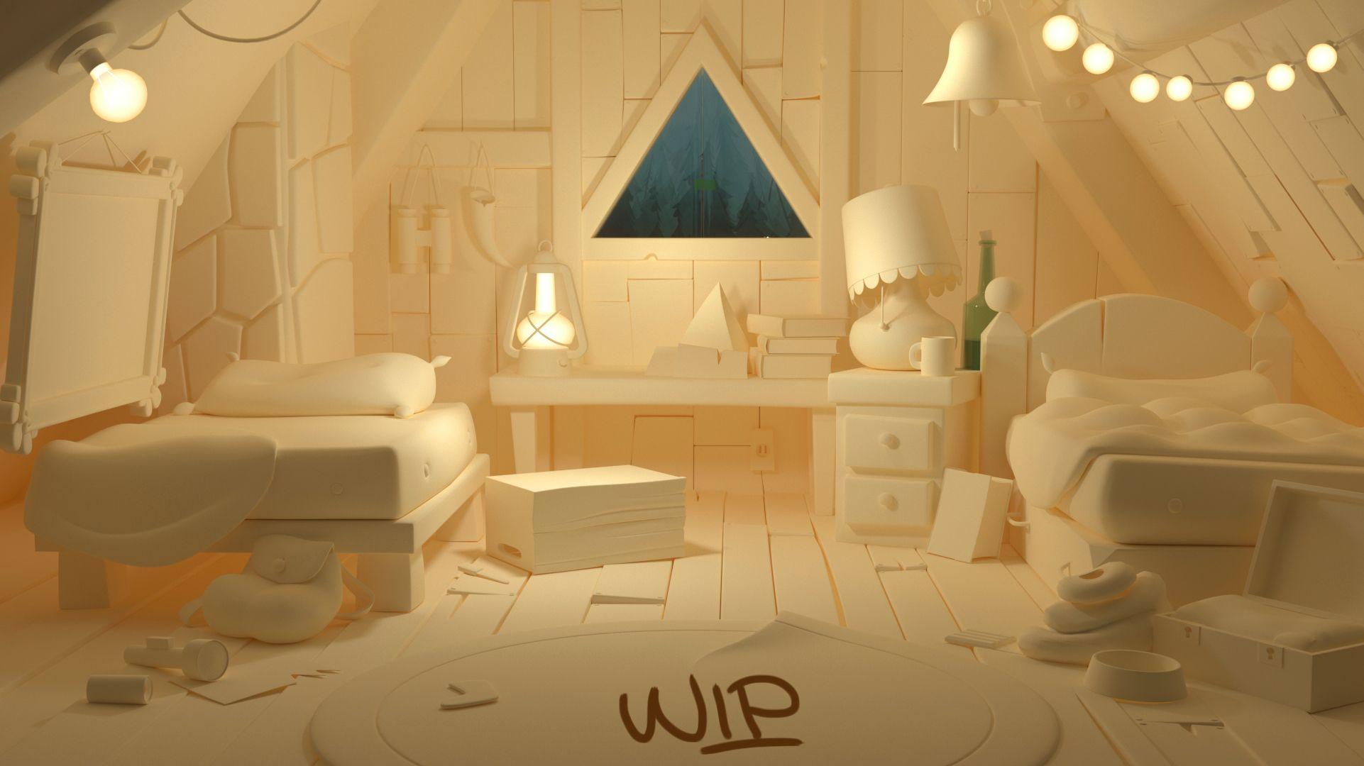 Gravity Falls Room Wip 2 Sofia R Picasso Gravity Falls Picasso Environment Design