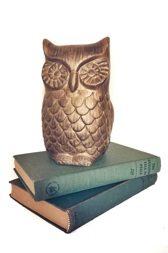 Vintage Wooden Owl by themeldrumhouse on Etsy