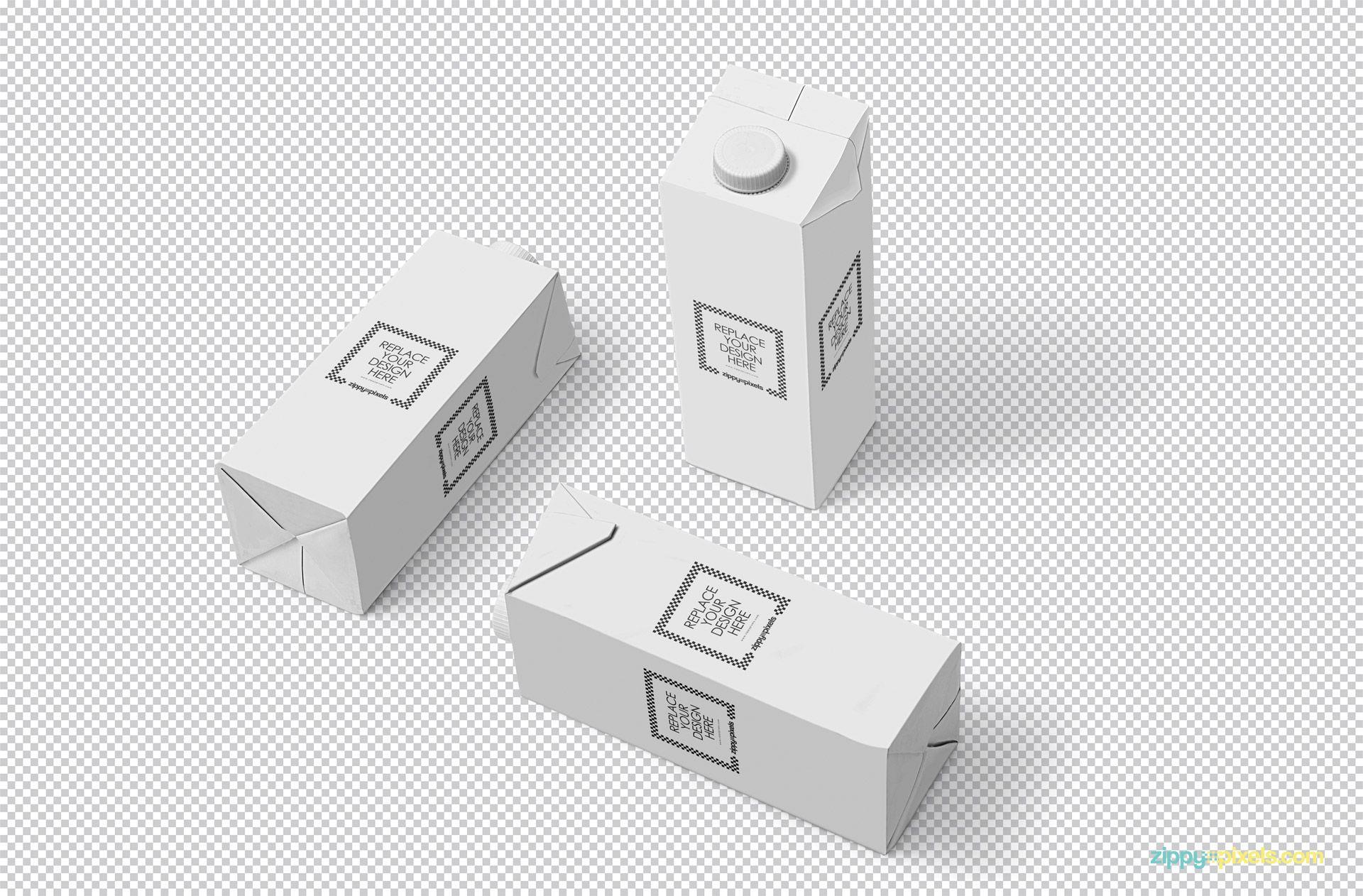 Download Free Milk Carton Mockup Zippypixels Box Mockup Free Packaging Mockup Carton Box