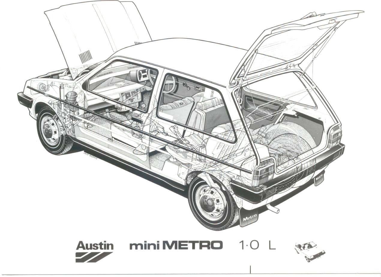 Austin Mini Metro 1.0 L 1980 Cutaway Original black