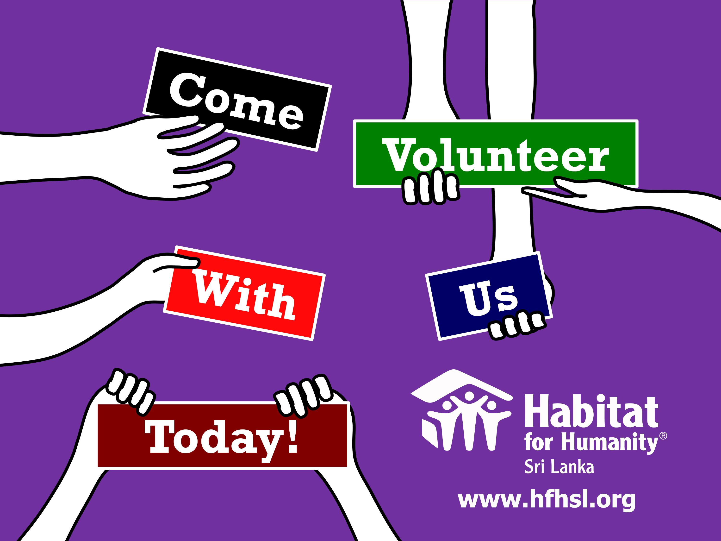 Come volunteer with us toady!!