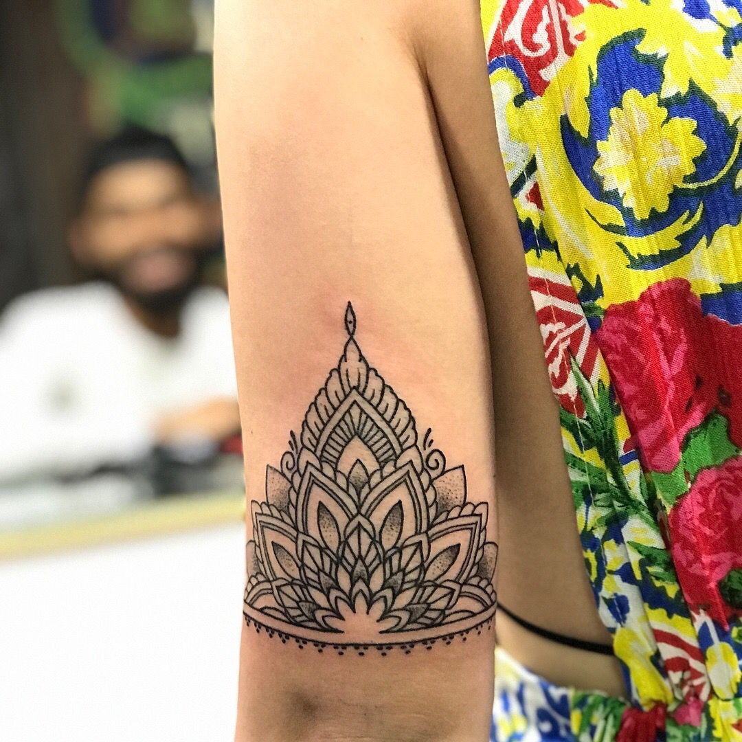 Half Mandala Tattoo Arm Made In Goa India Half Mandala Tattoo