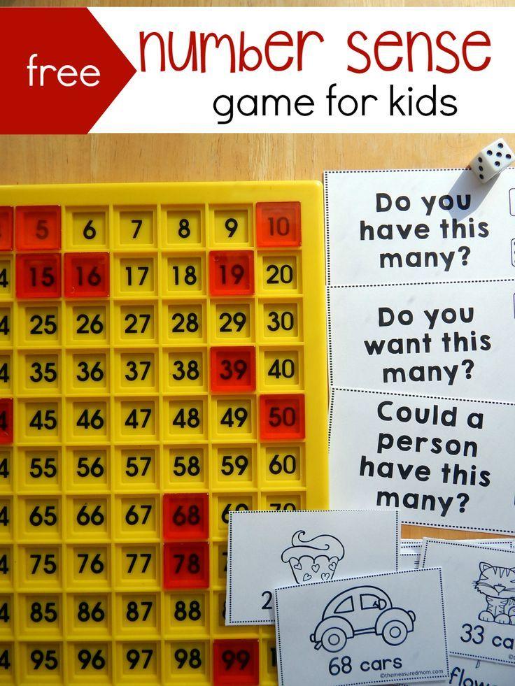 Free number sense game for kids Kindergarten math