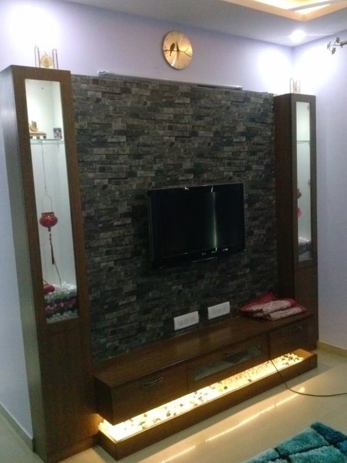 Tv Unit Designs In The Living Room: Pin By Sanju Thomas On Interior Design