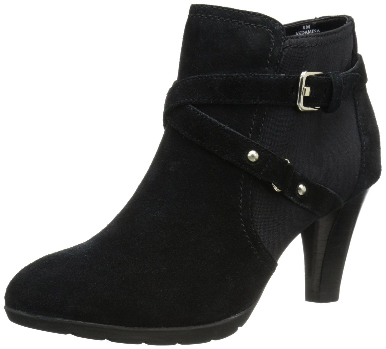 Womens Boots Anne Klein Damina Black Leather