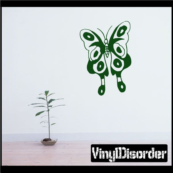 Butterfly Wall Decal - Vinyl Decal - Car Decal - CF235