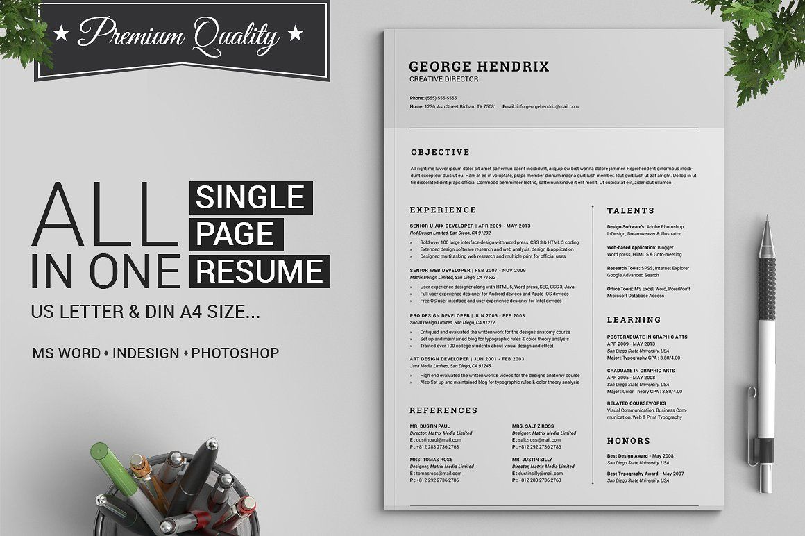 Image result for graphic design student resume minimalist | Resume ...
