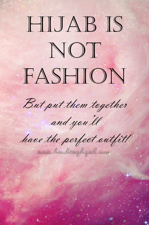 Hijab is not fashion