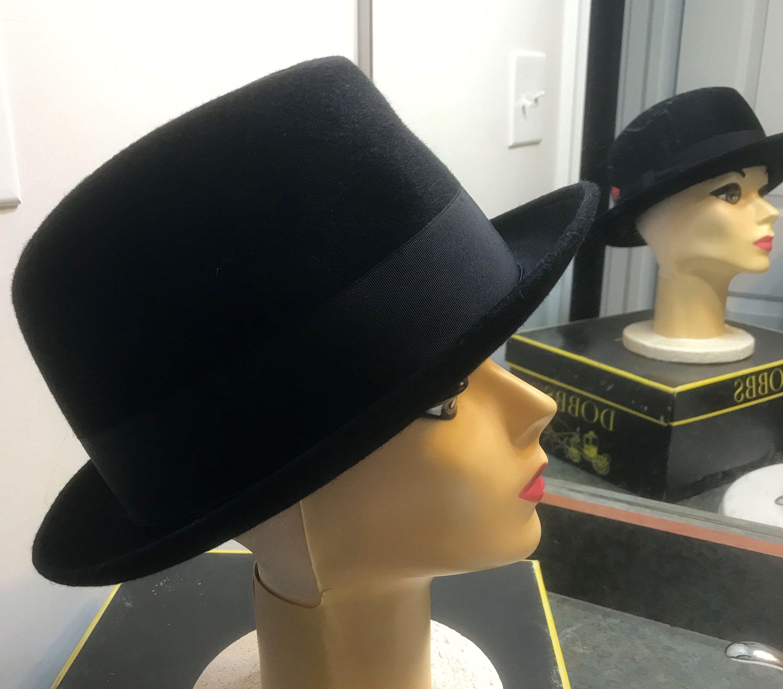 Vintage Borsalino Alessandria Fedora Feather Grand Prix 1900 Hat Black 7 1 2 Italy 1950 S Black 7 Ny Hat Hats