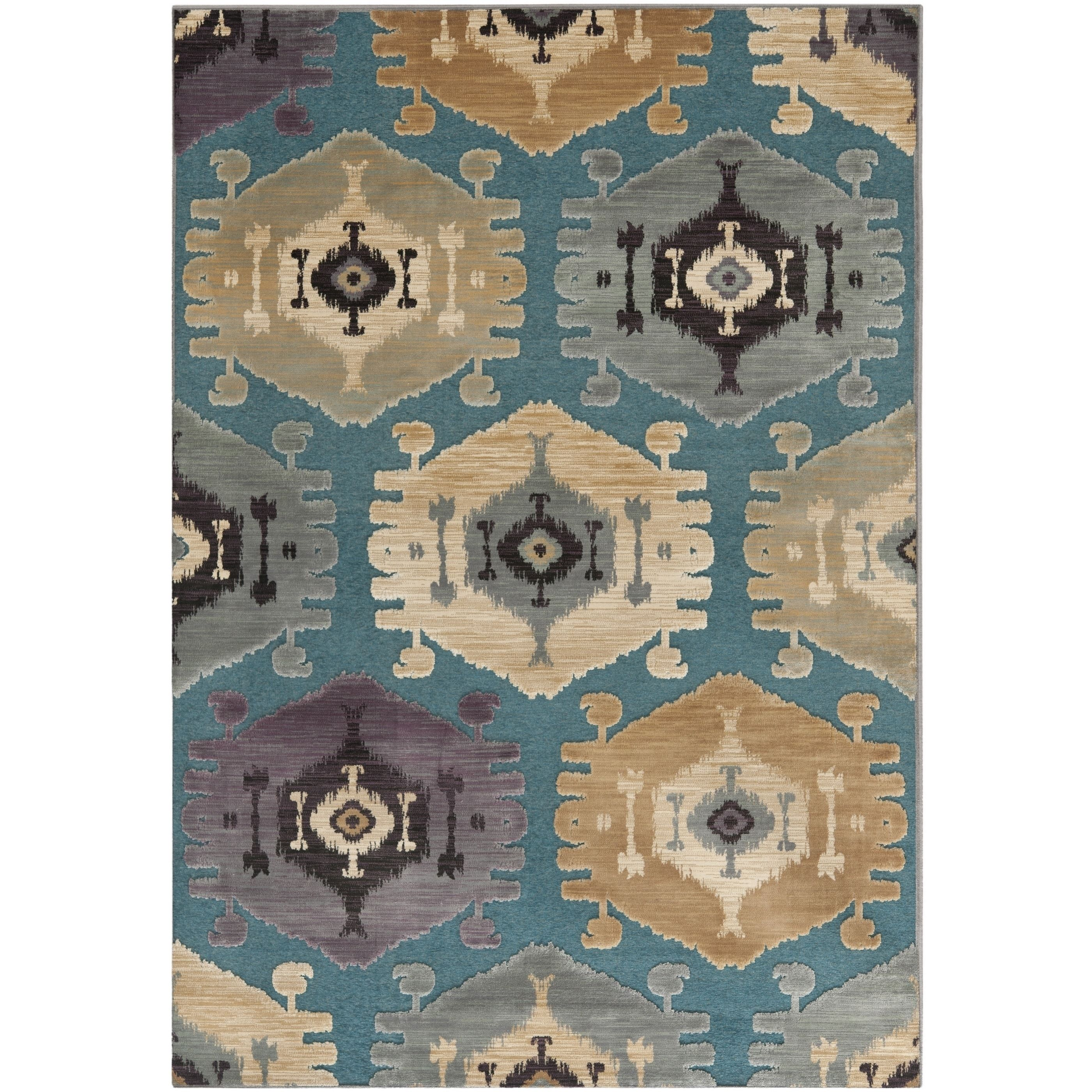 Safavieh Paradise Grey Viscose Rug (7'6 x 10'6) (PAR328-2770-810), Size 8' x 10' (Synthetic, Geometric)