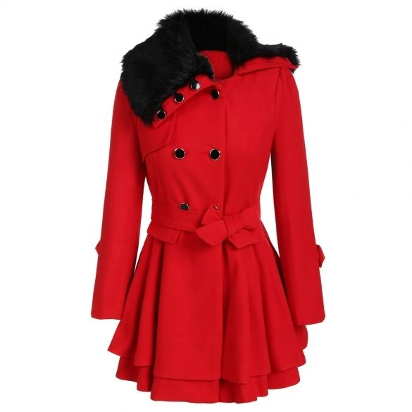 Fashion Down Zeagoo Fur Turn Women Ladies Breasted Collar Single q77aE
