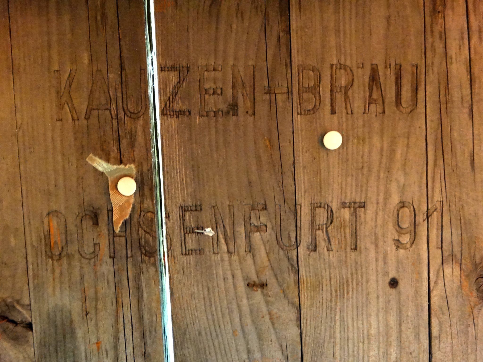 The Table Was Manufactured By The Kauzen Brau Brewery In The Bavarian Town Of Ochsenfurt It Was One Of Many That Line Upscale Furniture Beer Tent Garden Table