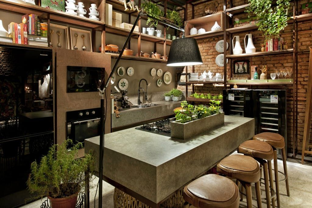 An integrated planter to grow herbs in the worktop | KITCHENS ...