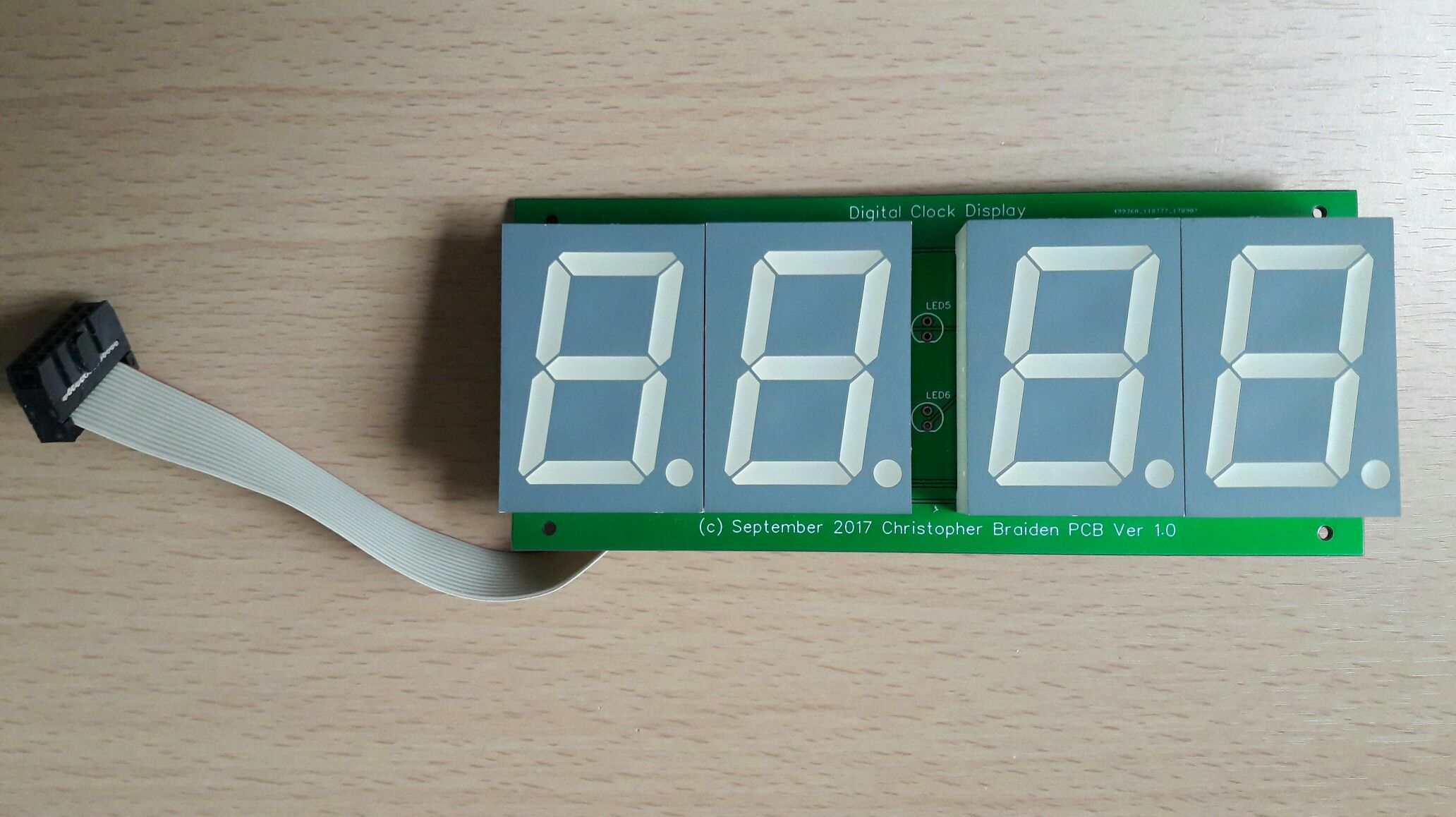 Large 4 Digit Led Multiplexed Display My Microcontroller Projects Clock Using Pic